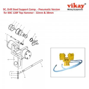 Drill Steel Support Comp Pneumatic Version