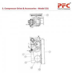 Compressor Drive And Accessories IR 231 Parts