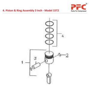 Piston & Ring 3 Inch IR 15T2 Compressor Parts