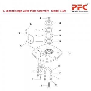 2nd Stage Valve Plate IR 7100 Compressor Parts