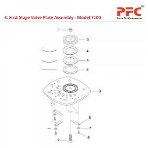 First Stage Valve Plate IR 7100 Compressor Parts