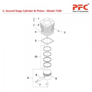 Second Stage Cylinder & Piston IR 7100 Parts