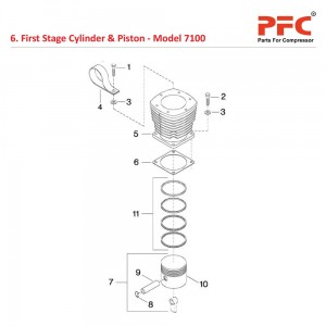 First Stage Cylinder & Piston IR 7100 Parts