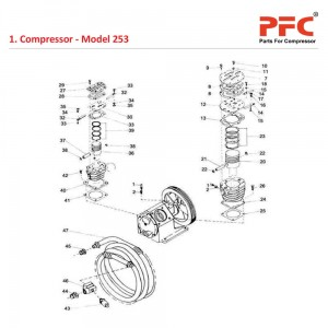 Cylinder and Piston IR 253 Air Compressor Parts