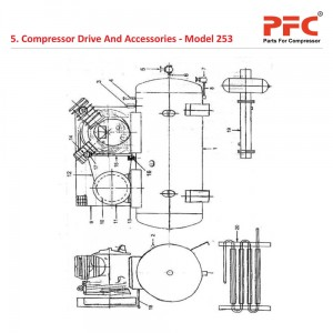 Compressor Drive And Accessories IR 253 Parts