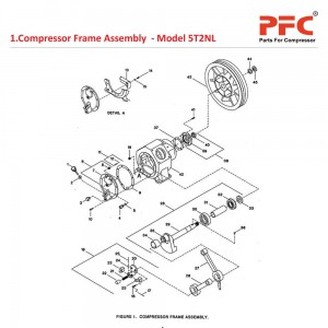 Compressor Frame IR 5T2 NL Air Compressor Parts