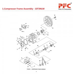Compressor Frame IR 10T3 NL Compressor Parts
