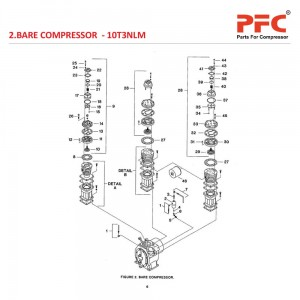 Bare Compressor IR 10T3 NL Air Compressor Parts