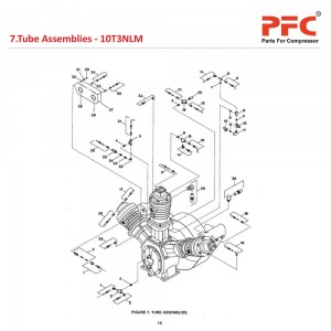 Tube Assemblies  IR 10T3 NL Air Compressor Parts