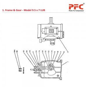 Frame & Gear IR 9 1/2 x 7 ESV LUB Compressor Parts