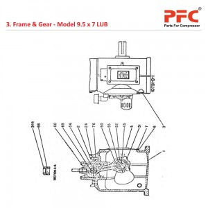 Frame End IR 9 1/2 x 7 ESV LUB Compressor Parts
