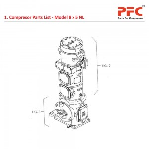 Compressor Parts List IR 8 x 5 ESV NL Parts