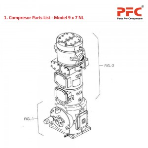 Compressor Parts List IR 9 x 7 ESV NL Parts